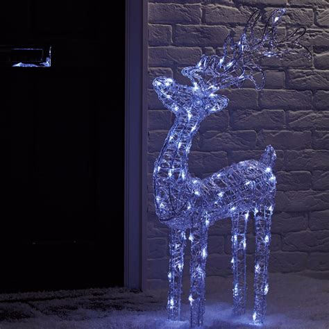 Reindeer Lights Outdoor Reindeer With Lights Lights Card And Decore