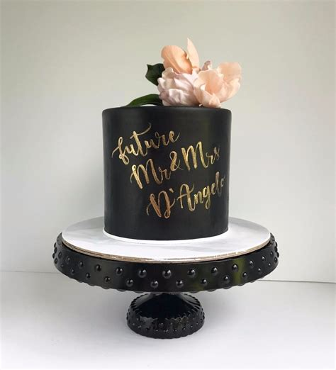 Black Wedding Cakes by 12 Black Wedding Cakes You Need To See Right Now