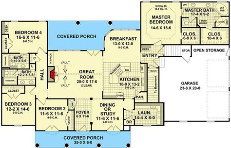 4 bedroom split floor plan four bedroom split bedroom house plan 51063mm architectural designs house plans