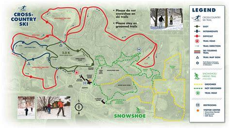 Minnesota Landscape Arboretum Trail Map Skinnyski Ski Trails