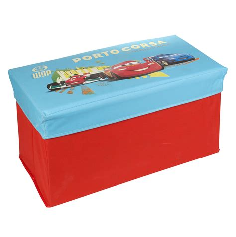 Disney Pixar Cars Lightning Mcqueen Ottoman Kids Storage Bench Stool Chest Lid Ebay