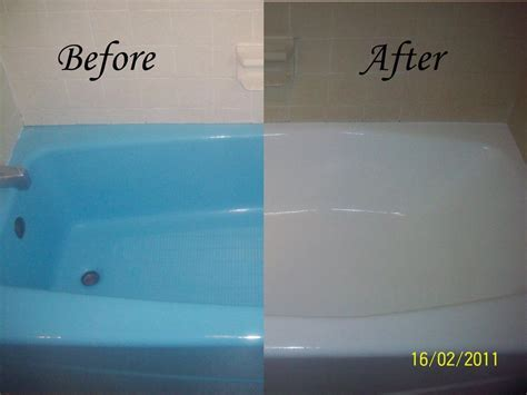 Bathtub Resurfacing Before and After from Dennie's Resurfacing LLC in Bethlehem, PA 18020