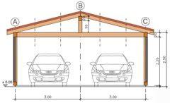 Garage Flachdach Holzkonstruktion by Purholz 174