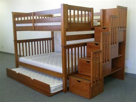 twin over full bunk bed plans with stairs furniture i want pinterest woodworking plans