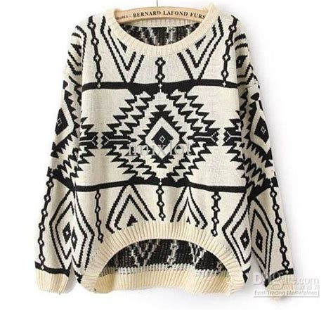 aztec pattern knit sweater women s tops long sleeve sweater and sleeve on pinterest