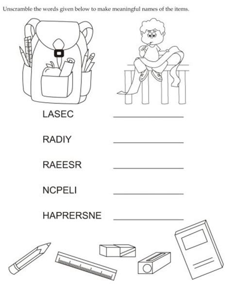 unscramble letters to make words activity worksheet unscramble the words 1693