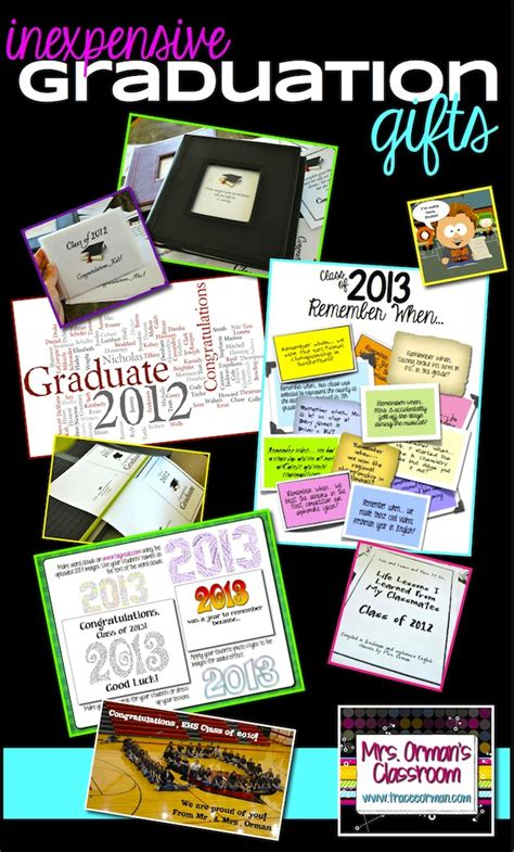 inexpensive graduation gifts mrs orman s classroom 05 12