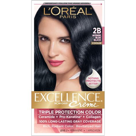 2b hair color l oreal protection 2b cooler blue black