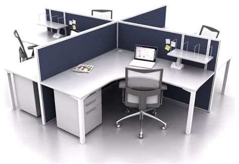 smart50 4 person corner workstation modern desks and