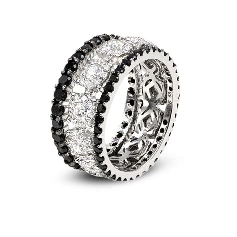 black and white rings okg jewelry
