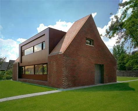 Modern Brick House by House Hanendick Traditionally Modern Modern Architecture