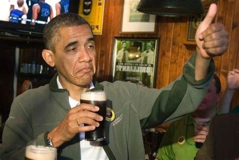 Obama Beer Meme - obama gives anti trump rioters a big thumbs up