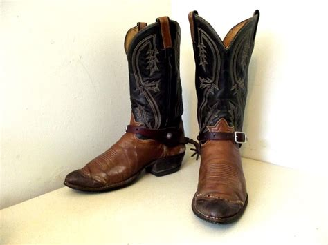with cowboy boots vintage authentic cowboy boots tony lama brand with working