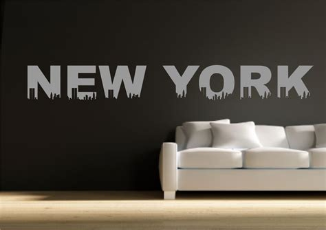 wall stickers new york new york themed wall sticker decal transfer mural stencil print wsd522 ebay