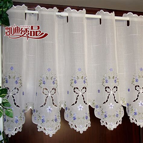 rustic curtain fabric quality blue embroidery rustic curtain fabric finished