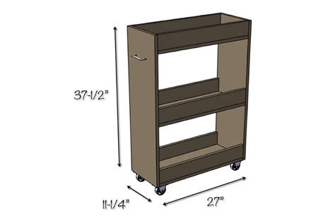 Slim Rolling Laundry Room Storage Cart Free Diy Plan Laundry Room Storage Cart