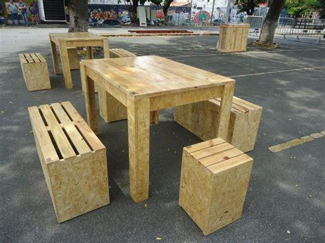 casa de banco lindos conjuntos de mesas e bancos de pallet e osb casa