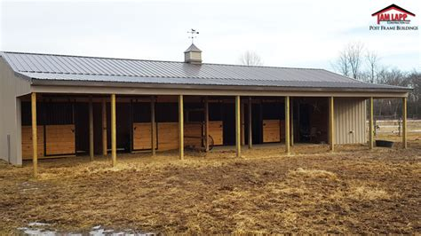 open area for future stalls 8 stall horse barn with horse barn pole building in pittsgrove new jersey tam