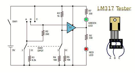 alimentatore con lm317 lm317 regulator test circuit