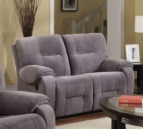 gray microfiber reclining loveseat villa light grey microfiber reclining loveseat by acme 50801