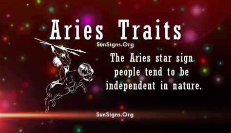 aries personality traits characteristics sun signs