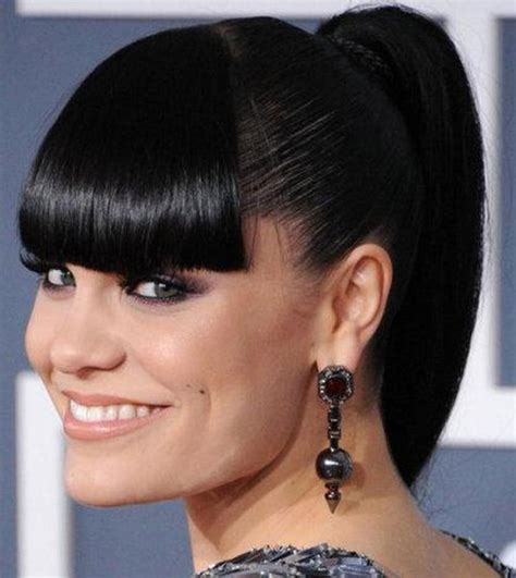ponytail with tapered bangs hairstyles pictures of black hairstyles with bangs ponytail