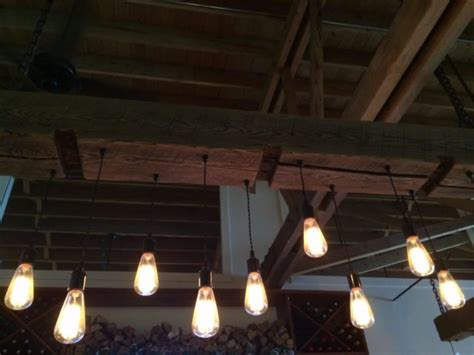 Rustic Wood Light Fixture With Reclaimed Beam Id Lights Reclaimed Wood Light Fixture