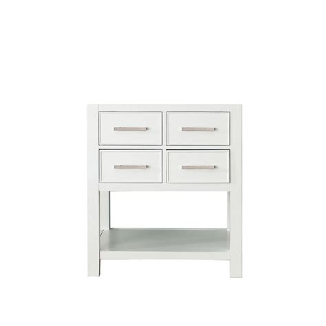 avanity brooks 30 in vanity cabinet only in white brooks