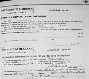 Al Marriage Records Marriage Licenses My Roots My