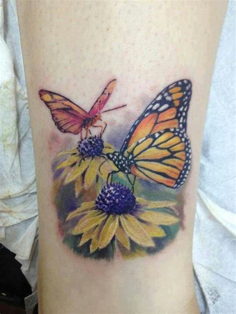 black eyed susan tattoo butterfly tattoos and piercings