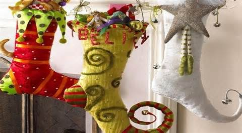 Home Theater Decorations unique christmas stockings