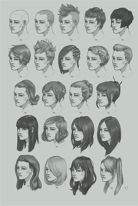 digital hairstyles on upload pictures hairstyle study by artofhkm on deviantart