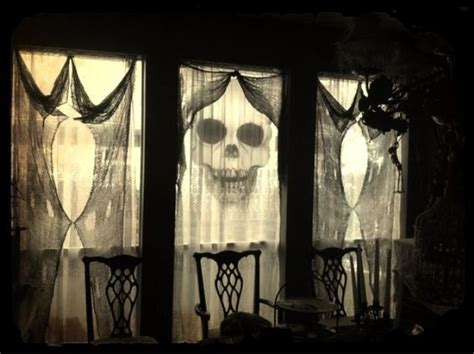 cheesecloth curtains picture of use black cheese cloth as spooky yet classy