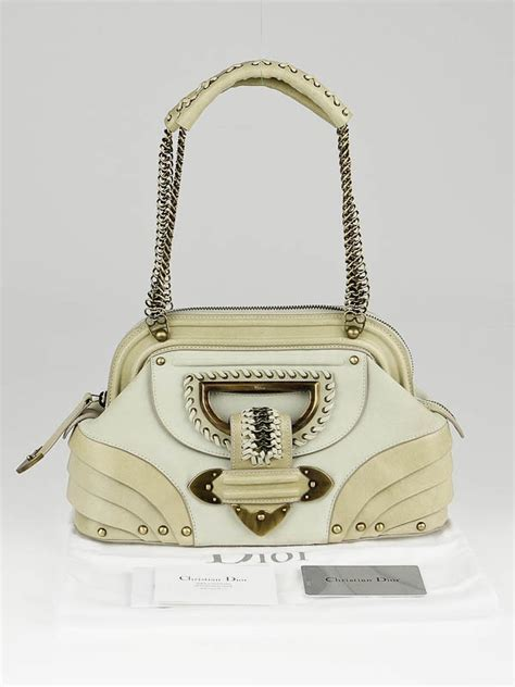 Jeanne Bag by Christian Ivory Leather Jeanne Small Frame Bag