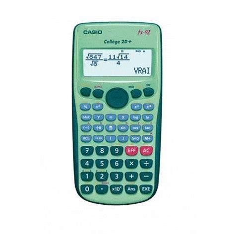 casio calcolatrice casio calculatrice fx 92 coll 232 ge 2 d achat vente