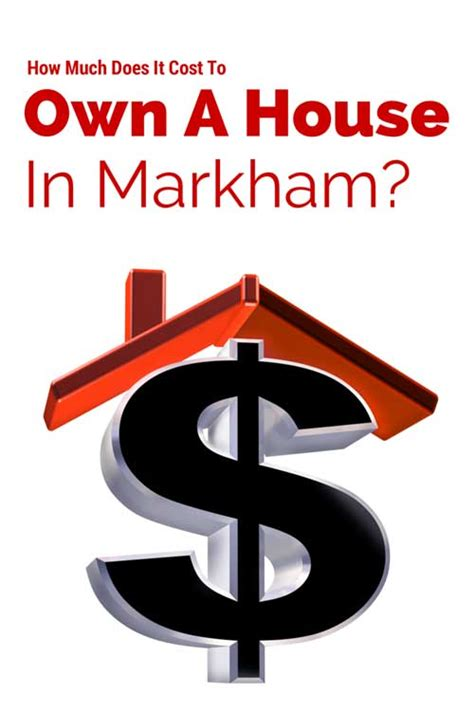 the real costs of owning a home in markham