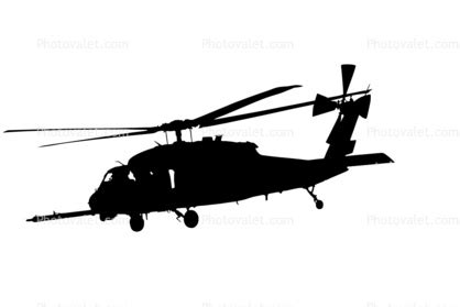 Black Hawk Outline by Blackhawk Helicopter Clipart 33
