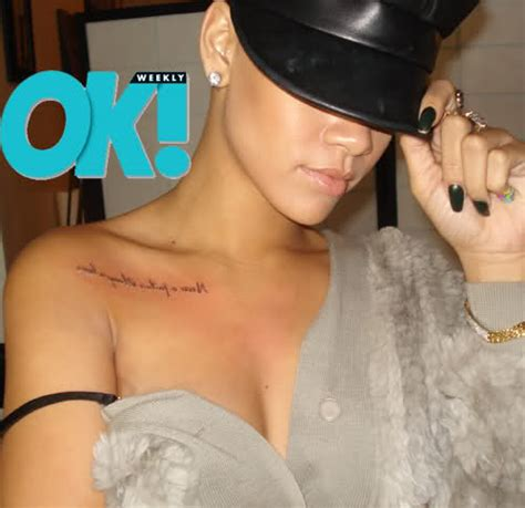 rihanna side tattoo only in the world where is rihanna s quot never a