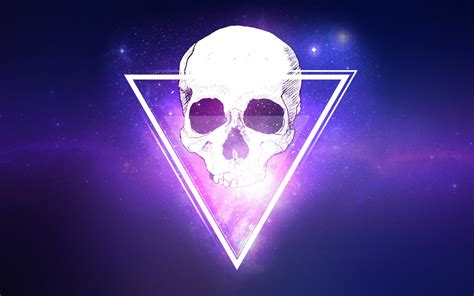 wallpaperscraft interstellar skull triangle 3d hd 3d 4k wallpapers images