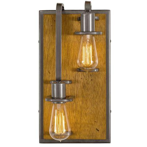 varaluz lofty 4 light varaluz lofty 2 light left steel with wheat wall
