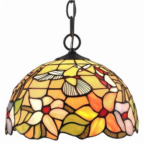 tiffany style hummingbird l amora lighting tiffany style hummingbird pendant