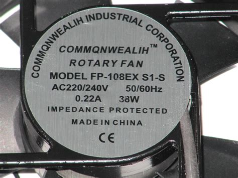 Fan Commonwealth Ac 220v Oval commonwealth fp 108ex s1 s 220v ac fan