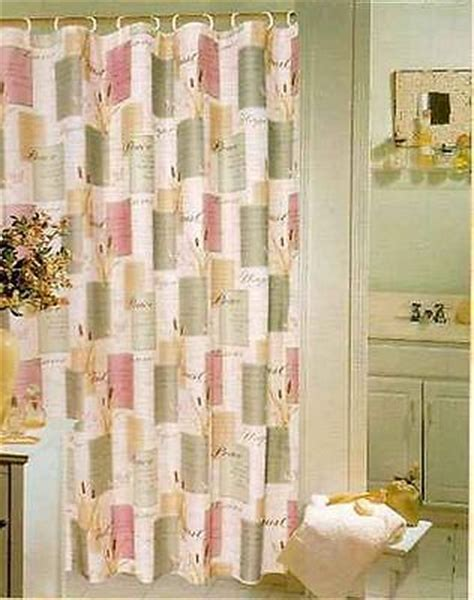Inspirational Shower Curtain Sets by Nip 13 Pc Inspirational Sayings Peace Fabric