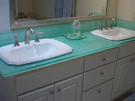 Recycled Glass Vanity Top exles of eco friendly glass countertops furniture home design ideas
