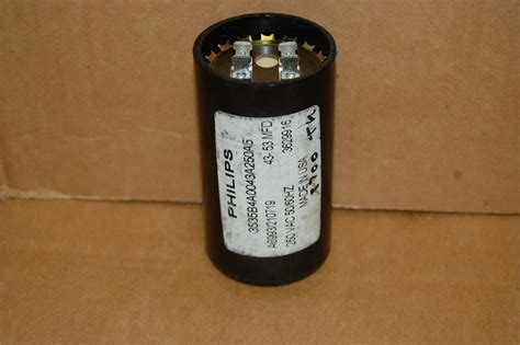 philips starting capacitor philips 3535b4a0043a250a5 43 53mfd 250vac motor start capacitor