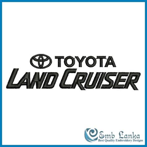 Toyota Land Cruiser Logo 4 Embroidery Design Emblanka Com