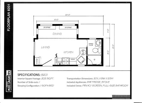 rv park model floor plans floor plans kottage rv canada