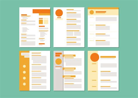 layout templates free curriculum vitae layout templates vector free vector