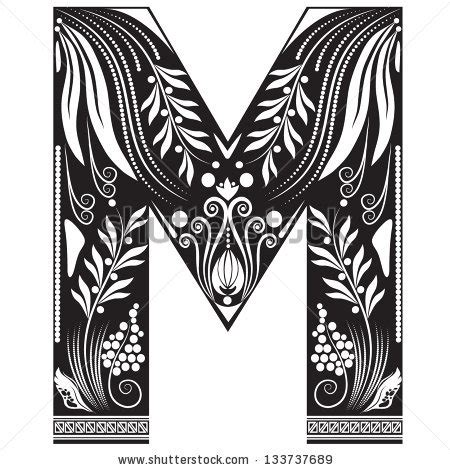 m styler letter m floral stock photos images pictures