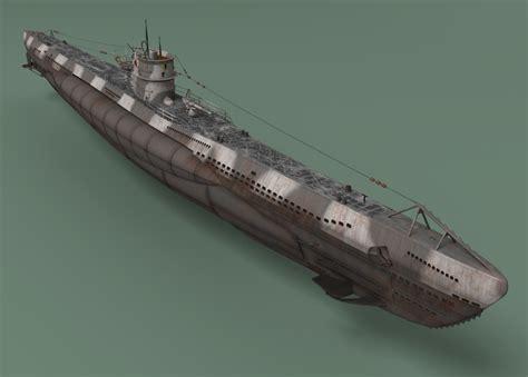 u boat video game ww2 german u boat viic 3d model